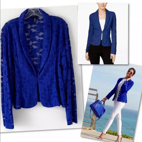 INC International Concepts Jackets & Blazers - INC INTERNATIONAL CONCEPTS LACE BLAZER SZ XL